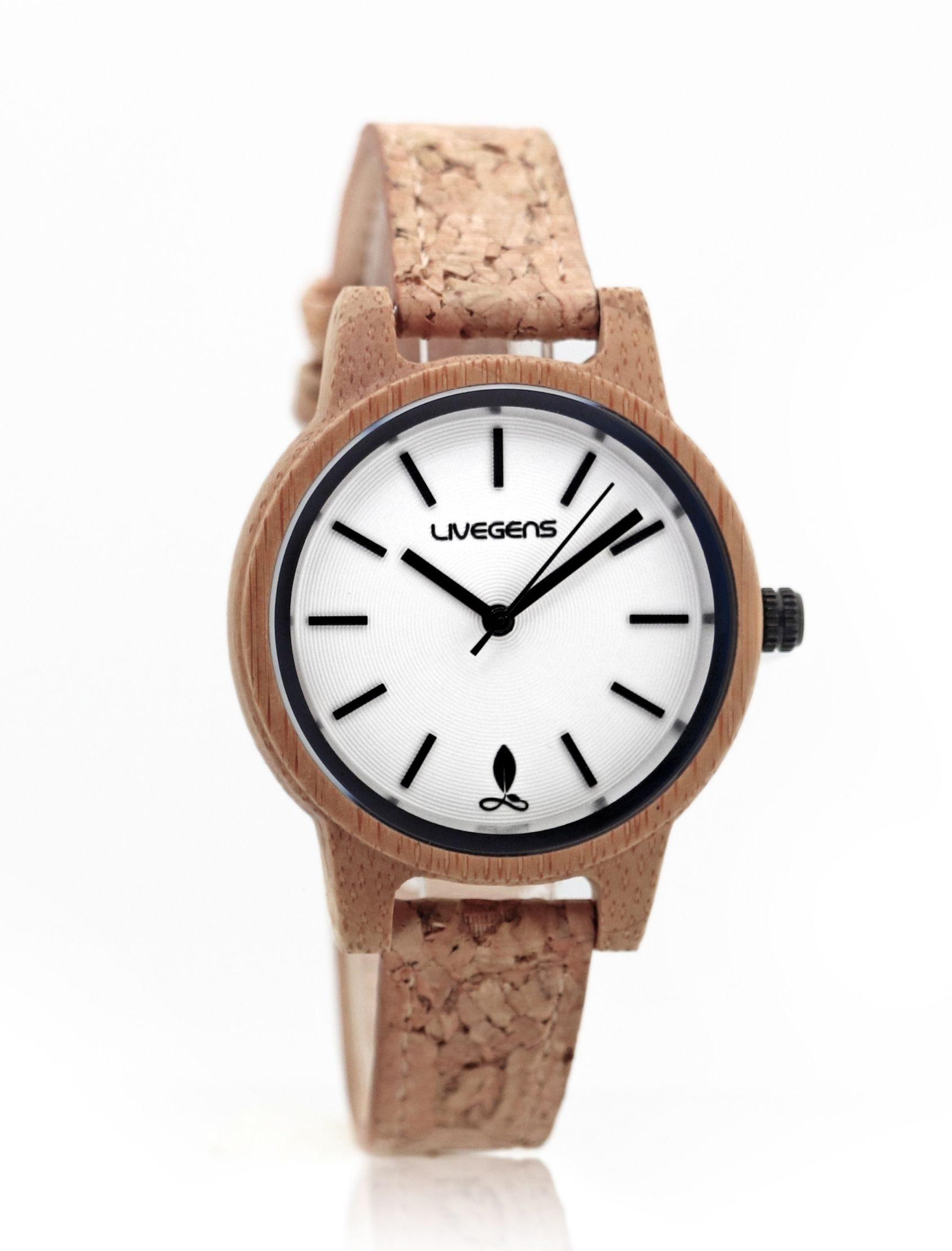 reloj livegens corkland de madera con correa de corcho