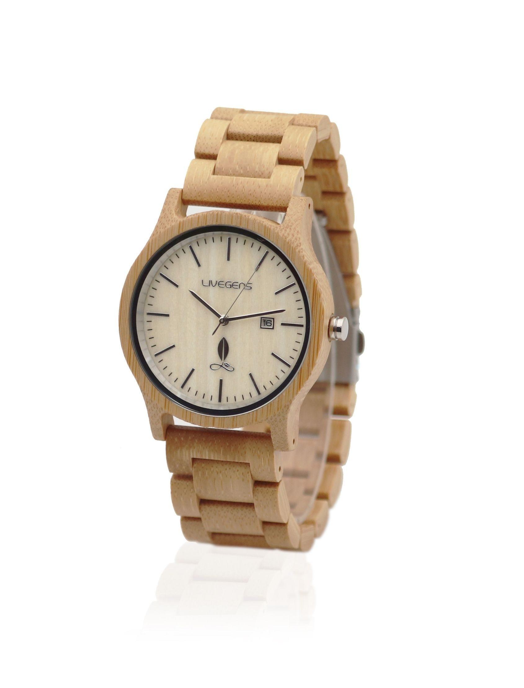 reloj livegens sahara madera hecho artesanalmente