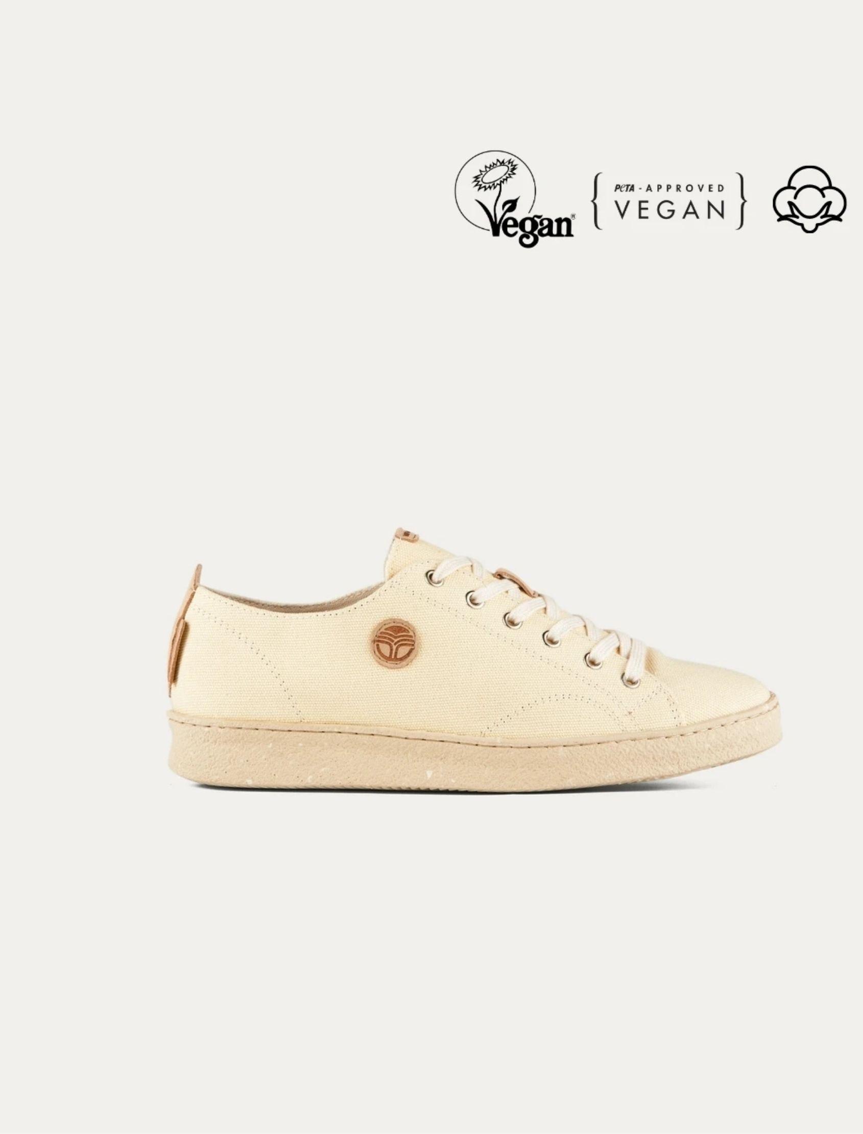 zapatillas desierto de la vida de beflamboyant elaboradas con materiales veganos en color crema