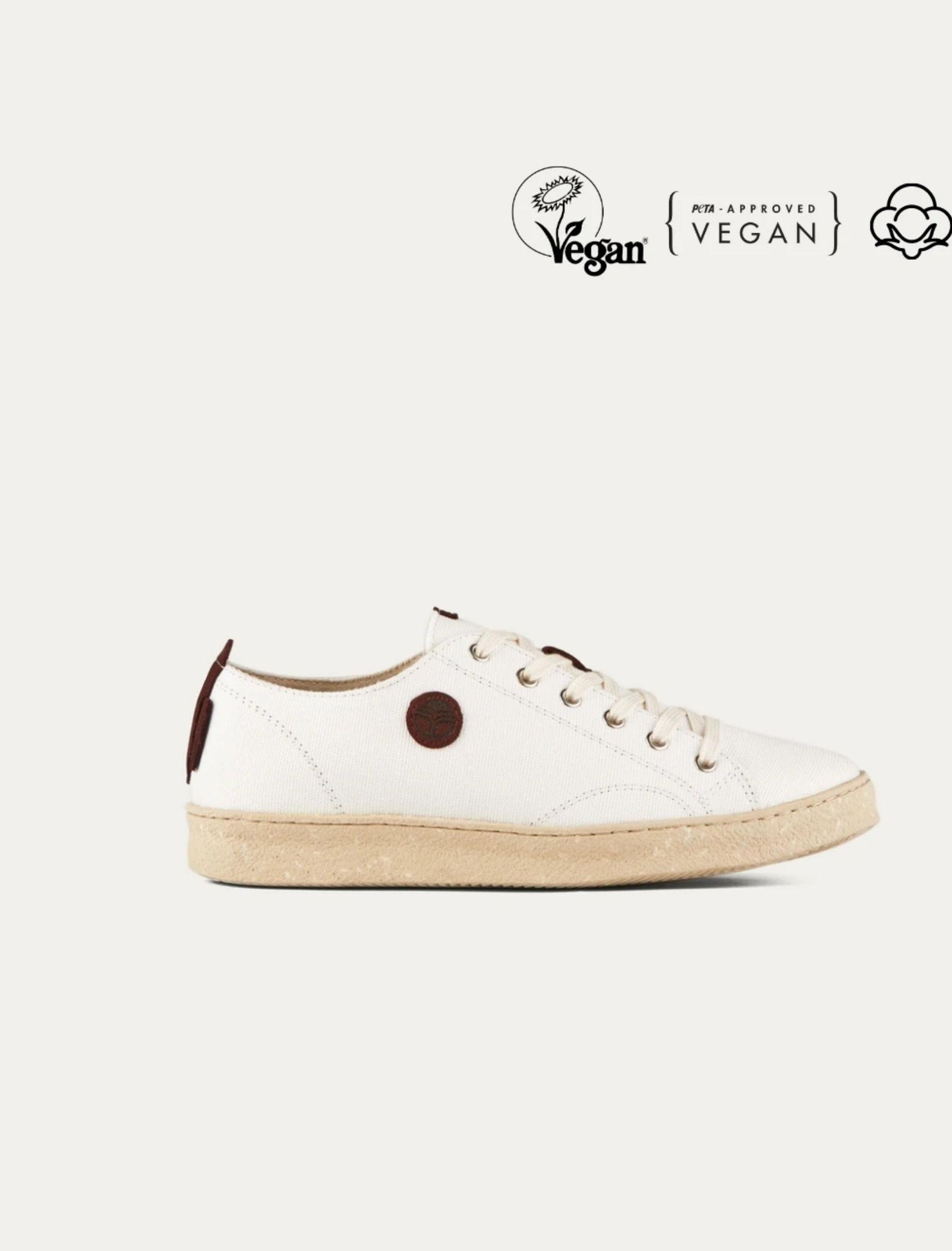 zapatillas life borgogna en oclor blanco con detalles marrón de beflamboyant