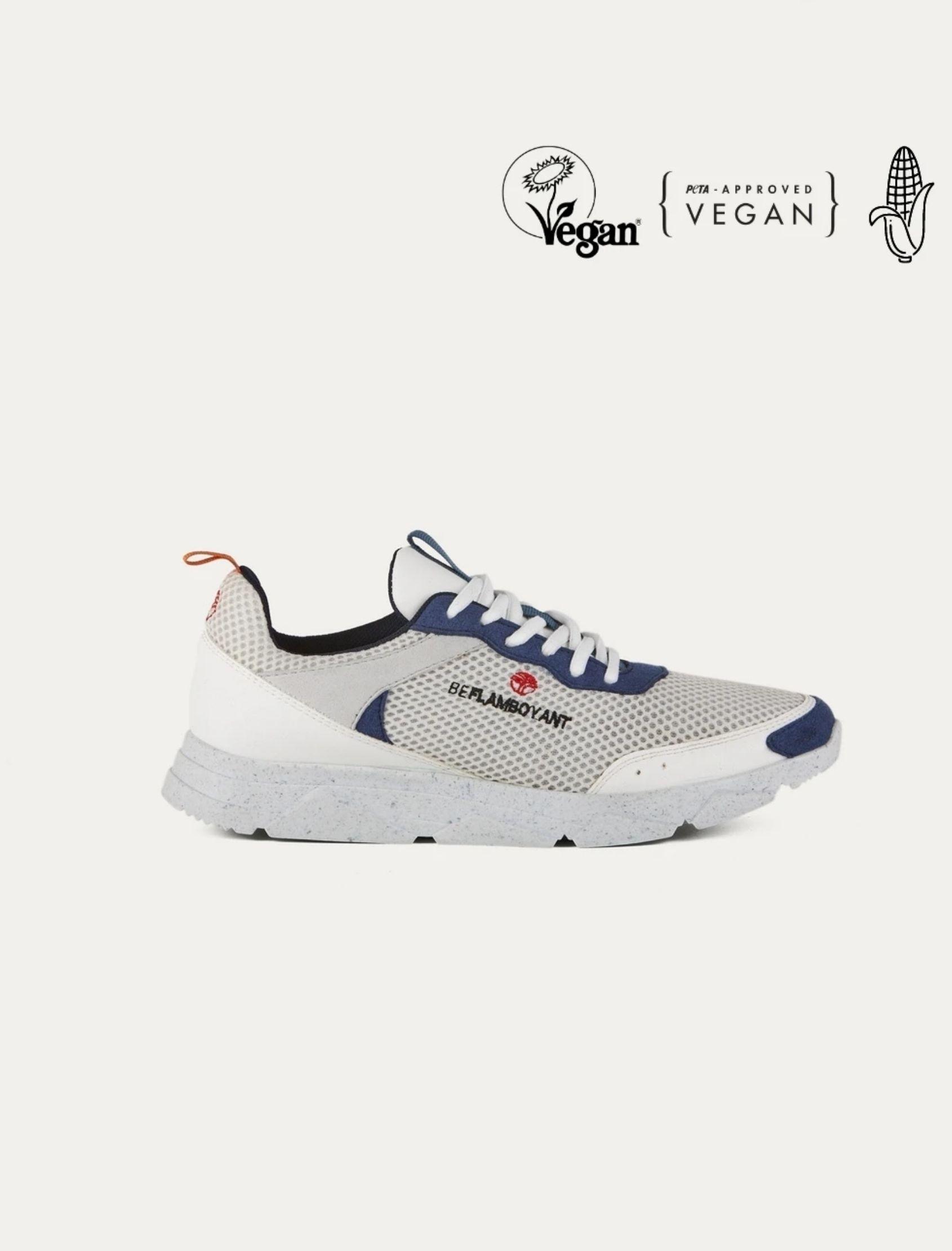 zapatilla street navy de la marca beflamboyand elaborada con tejidos veganos