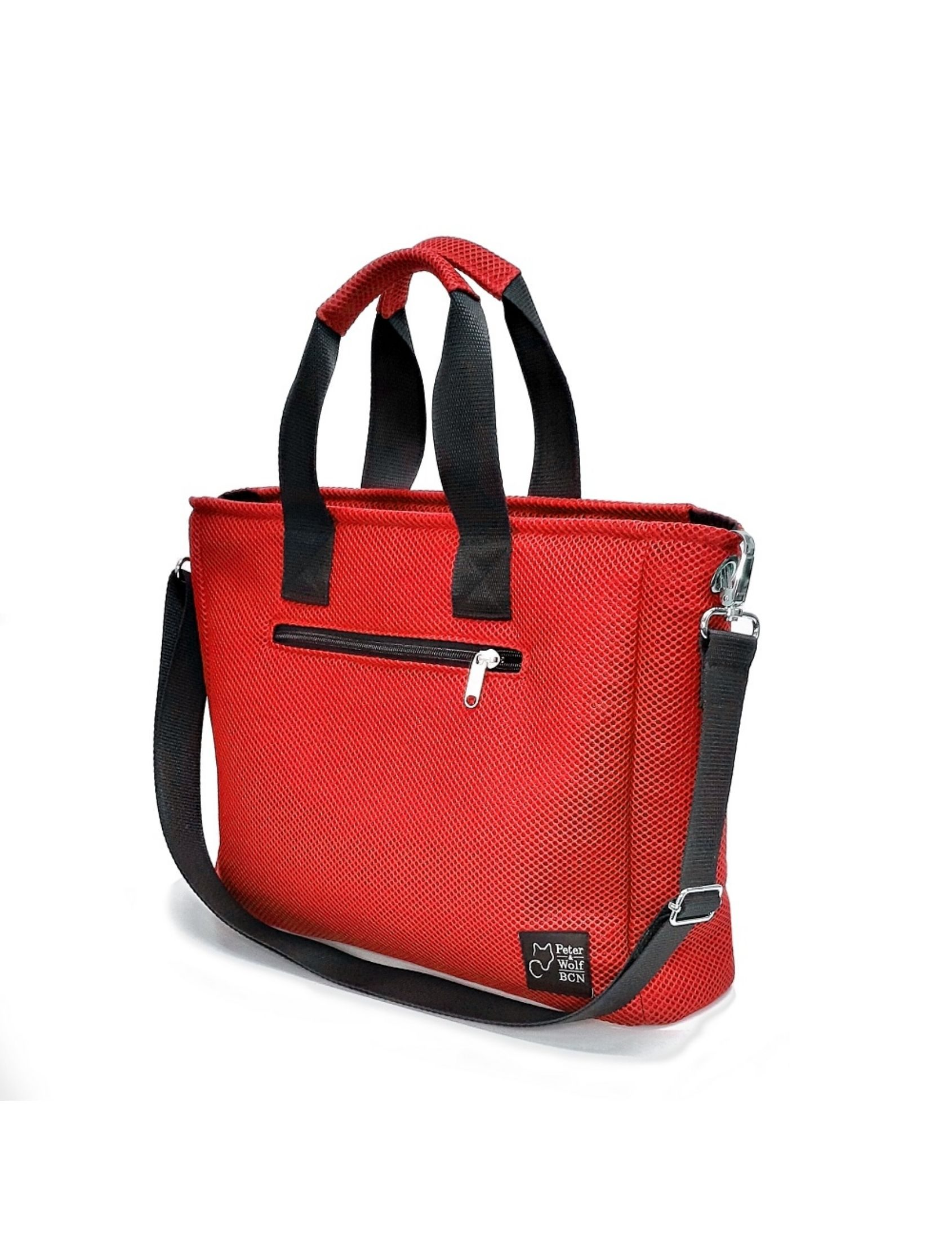 bolso box sport rojo de peter & wolf barcelona elaborado en tejido técnico 3d